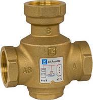 Термический 3-ходовой наливной клапан LK 823 Thermovar 1 1/2 ННН 55°C LK Armatur