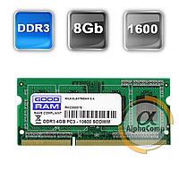 Модуль памяти SODIMM DDR3 8Gb Goodram PC3-12800 1600 (GR1600S364L11/8G)