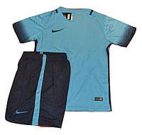 Футбольная форма игровая Nike ( цвет - синий-голубой )
