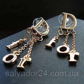 Серьги - пуссеты Dior (реплика)