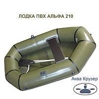 Легкая надувная лодка пвх АЛЬФА 210 - облегченная гребная лодка от omega Ω 210 α Гламурка