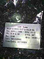 Светодиод 5 мм теплый белый  50 шт. в лоте