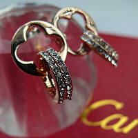 Серьги - пуссеты Cartier (реплика)