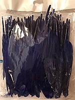 Перо гуся цветное, окрашенное ,цвет фиолетовый, длинна 17-20см