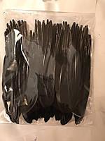 Перо гуся цветное, окрашенное ,цвет черный, длинна 17-20см