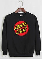 Свитшот Santa Cruz черный, унисекс (мужской, женский, детский)