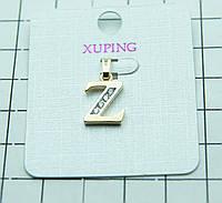 "35. ""Z"" Позолоченная буква кулон Xuping (клетка 1 см)."