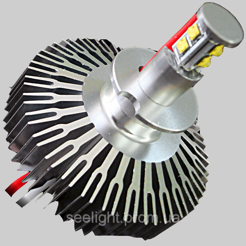 Комплект светодиодных автомобильных ламп с цоколем Н3 CREE 30W LED10-30V-4000К в противотум фонари