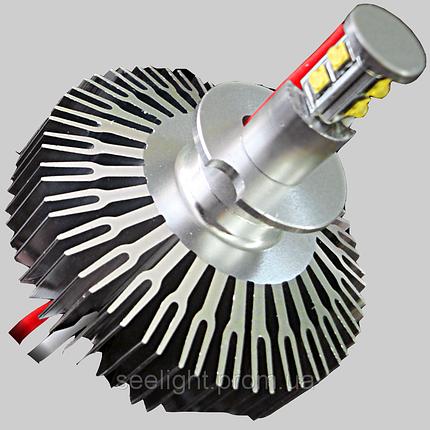 Комплект светодиодных автомобильных ламп с цоколем Н3 CREE 30W LED10-30V-4000К в противотум фонари, фото 2