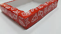 Коробка подарочная 15см х 20см х 3см, Красный_феерия