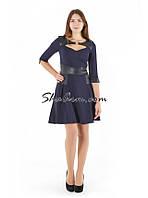 Платье повседневное, женское платье с баской
