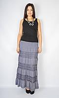 Уценка! Юбка женская с кружевом серая, 44-50 р-ры, фото 1