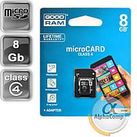 Карта памяти microSD 8GB GOODRAM (Class 4) + адаптер SD