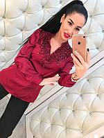 Шелковая женская рубашка