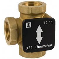 """Термостатический трехходовой переключающий клапан LK 821 Termo Var, 1 1/4"""", 55°C LK Armatur"""