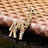 Женская подвеска Жираф 18k позолота, цепочка 50 см., фото 3