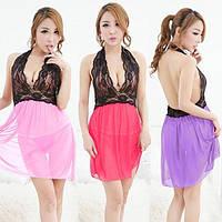 Сексуальный комплект эротического белья разные цвета, сексуальный пеньюар-разлетайка и стринги, S-M