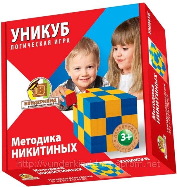 Кубики Никитина Уникуб. Деревянные кубики бук. Вундеркинд (К-002)