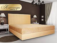 Кровать двуспальная  Клеопатра Люкс с подъемным механизмом №2 Металлическая рамка с ламелями, бельевой ящик