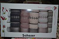 Набор махровых кухонных полотенец Saheser хлопок 6шт. 30х50см. Турция