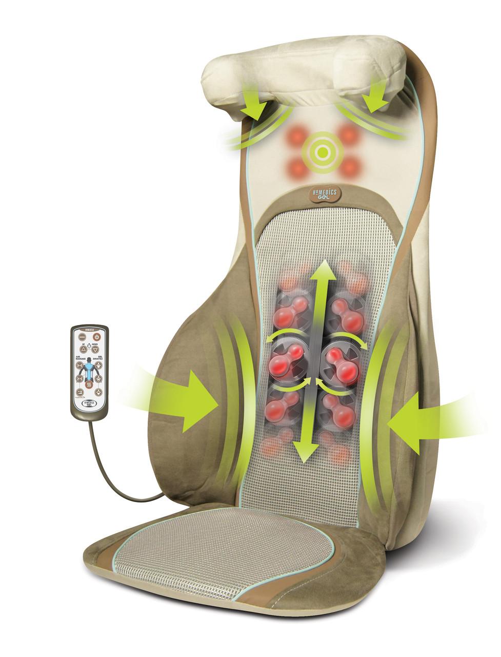 Массажная накидка HoMedics ThaiAIR Gel Shiatsu 3в1 с гелевыми ролами, прогревом 2в1 и пневмомассажем шеи