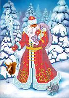 Схема для вышивки бисером Дед Мороз-Красный нос КМР 4031