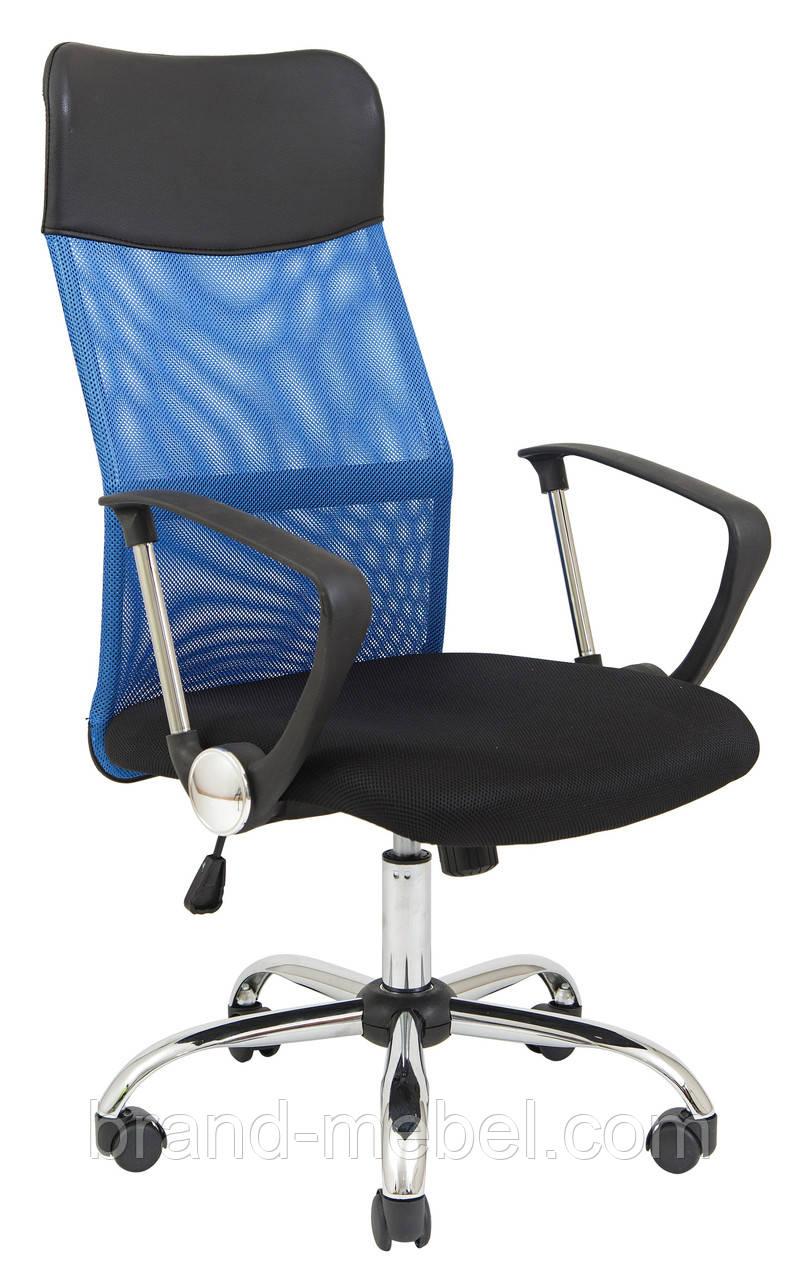 Кресло Ультра Хром сетка синяя Richman