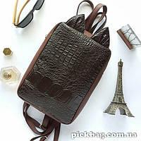 Женский рюкзак с ушками кошки Мур шоколад