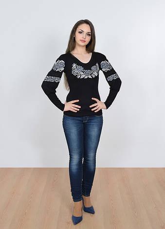 Вышитая футболка с длинным рукавом, фото 2