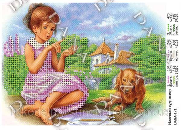 Схема для вышивания бисером DANA Маленькая художница 171