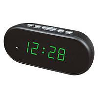 Электронные цифровые настольные часы зеленые VST-712-4/GREEN