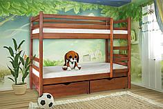 """Ліжко """"Кенгуру""""-двох'ярусне (лів.пр з ламелями)"""