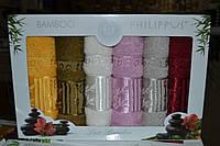 """Набор кухонных полотенец Philippus """"Bamboo"""" бамбук 6шт. 30х50см. Турция"""