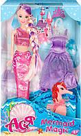 Тайна русалки, набор с куклой 28 см, блондинка (лиловый наряд), Ася