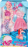 Тайна русалки, набор с куклой 28 см, блондинка (розовый наряд), Ася