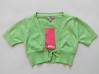 Кофта болеро на зав'язках на для дівчинки дитини зростання 86 рукав три чверті