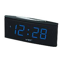 Электронные цифровые настольные часы синие VST-719-5/BLUE