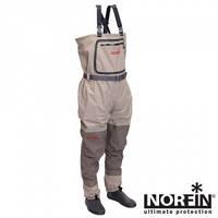 Напівкомбінезон заброд. мембран. Norfin WHITEWATER 20000мм (шкарпетка неопрен) / M