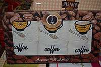 Набор кухонных полотенец Coffee махра 3 шт. 40x60см. Турция