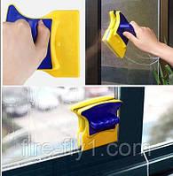 Магнитная щетка для двухстороннего мытья стекол Cleaning Double Side Glass Cleaner