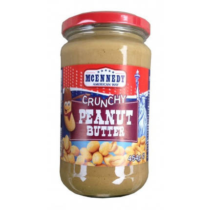 Арахисовое масло Mcennedy Crunshy Peanut Butter, 454г, фото 2