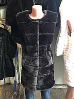 Женская  меховая жилетка безрукавка под норку
