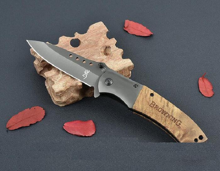 Нож титановый - Браунинг. Раскладной нож, нож полуавтоматический