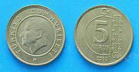 Монета 5 куруш Турция 2014-15гг.