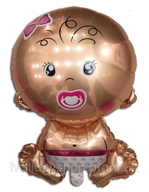 Воздушный шарик из фольги Карапуз девочка 67 х 45 см.