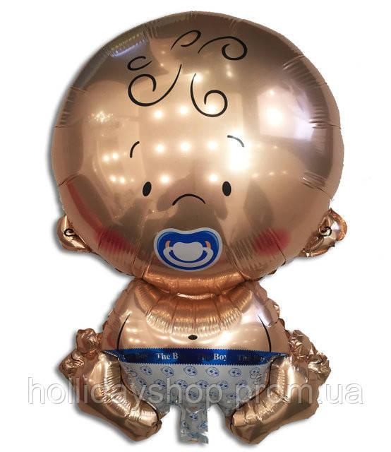 Воздушный шарик из фольги Карапуз мальчик67 х 45 см.