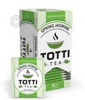 Чай Тотти / Totti Spring Jasmine, зеленый с жасмином, 25 пак*2г