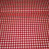 Ткань в мелкую красную клеточку, ширина 160 см