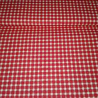 Ткань в мелкую красную клеточку, ширина 160 см, фото 1
