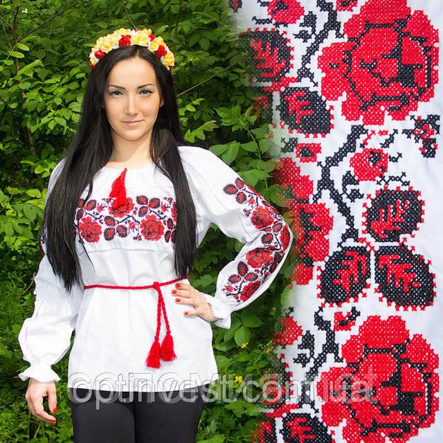 Сорочка вишиванка з довгим рукавом